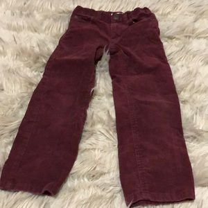 Boys corduroy pants size 5T burgundy